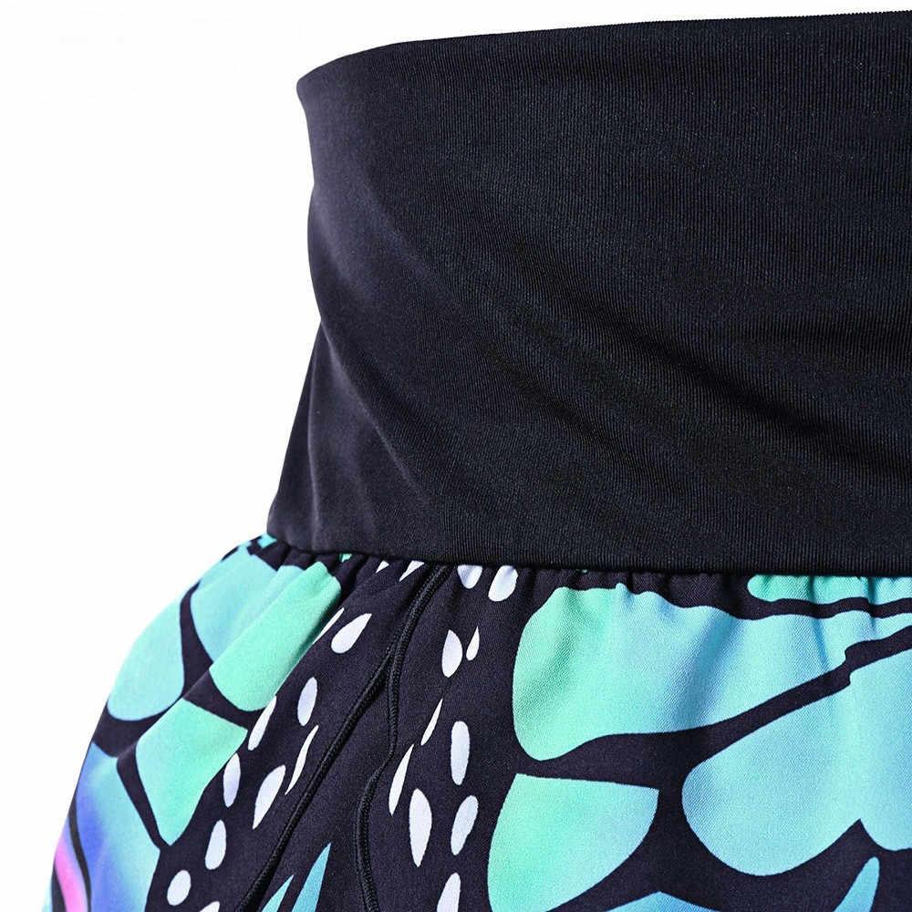 ฤดูร้อนกระโปรงโกธิคผู้หญิง VINTAGE Floral พิมพ์เอวสูงกระโปรงมินิกระโปรงผู้หญิงเซ็กซี่ Harajuku กระโปรงสั้นเสื้อผ้าสตรีสตรี 2019