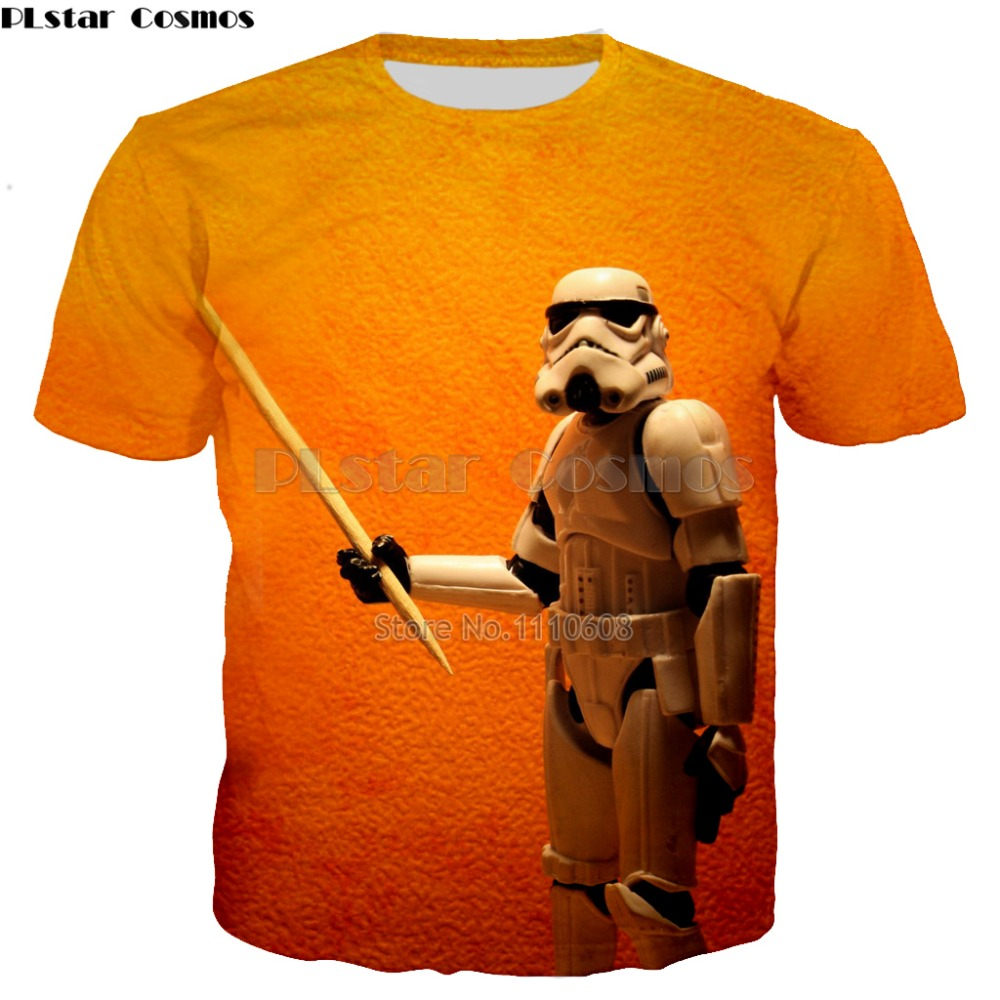 YX GIRL kind of funny Printed Star Wars T-Shirt robot shirt Novelty Mens cool T shirt Fashion star wars t shirt tops