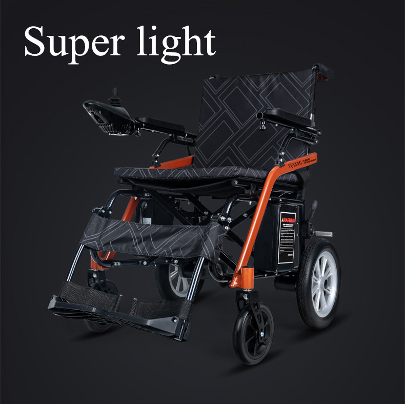 Free shipping Portable Lightweight Brushless Folding Electric Wheelchair for old people and elderly
