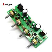 Placa de preamplificador de Audio NE4558, Triple Balance de bajos, placa de Audio ajustable, preamplificadora con tono, preamplificador, Control de doble A7 017