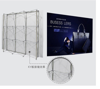 Exhibition Stand /3X4 fabric POP up 305X503CM Display Exhibition 8*10ft Banner Stand for Tradeshow