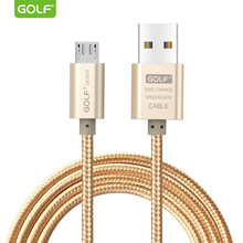 Golf Micro USB Kabel Data untuk Samsung Galaxy S7 S6 EDGE + S4 Note 4 LG G3 G4 V10 Kehormatan 6 7 7C 8X Ponsel Android Kabel Pengisian USB(China)