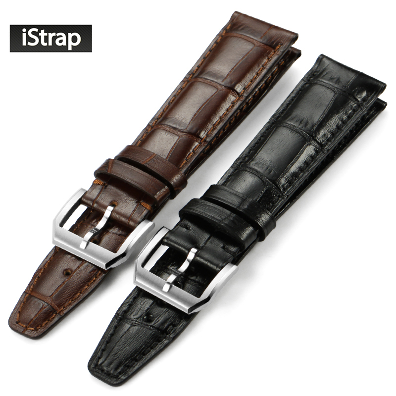 iStrap Watch Band 20mm 21mm 22mm High quality Shiny Genuine Leather Watch Strap For Men Women (4 styles for you to choose) istrap 22mm handmade genuine calf leather padded replacement watch band for men black 22