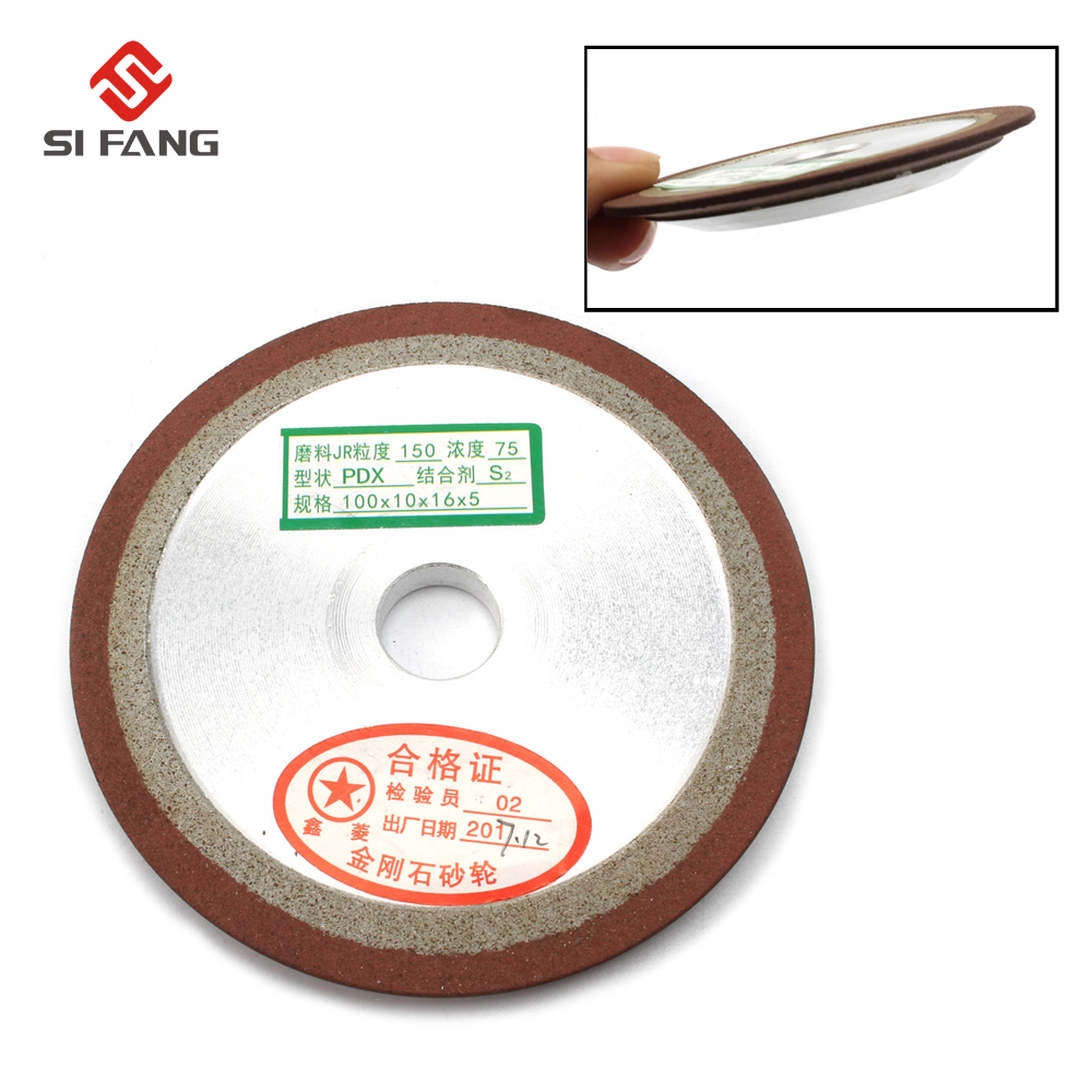 100mm One Side Tapered Resin Diamond Grinding Wheel 150 Grit Arbor 13/16/20/25mm PDX Grinding Disc Grinding Wheels Abrasive Tool