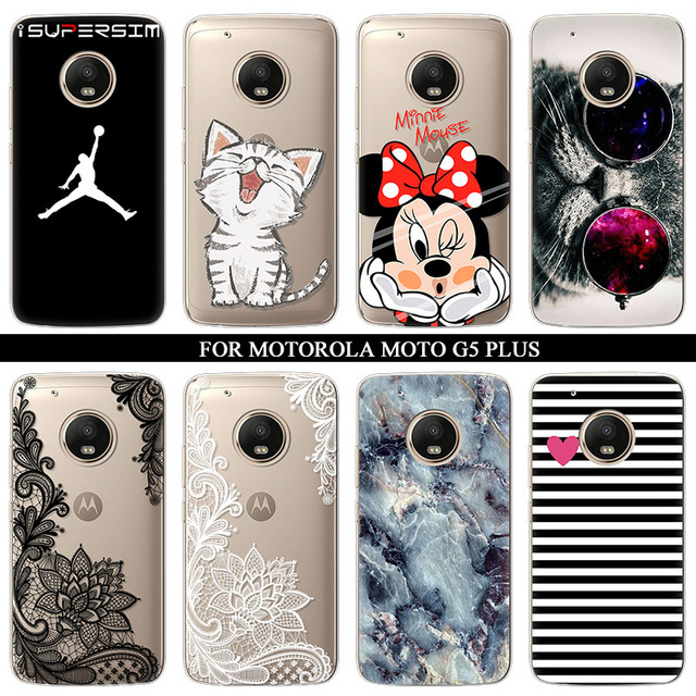 size 40 f01c1 3a355 US $1.18 13% OFF Case for Motorola moto G5 plus Case Silicone Ultra Thin  Soft TPU Rubber Transparent Minnie Clear Back Marble Cartoon Print Cover-in  ...