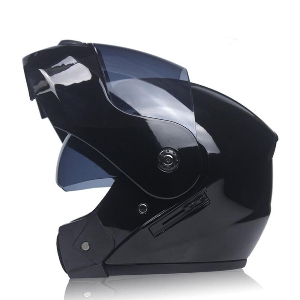 Мотоциклетный шлем с двойными линзами, открытый шлем для лица, шлем для гонок, шлем для бега, унисекс, двойной шлем