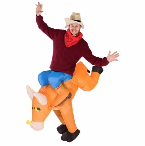 Funny Bull Rider on Cattle Inflatable Costume Outfit Adult Fancy Dress Carnival Party Blow Up Inflatable Costume Suit Halloween-in Sexy Costumes from ...  sc 1 st  AliExpress.com & Funny Bull Rider on Cattle Inflatable Costume Outfit Adult Fancy ...
