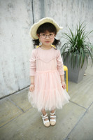 High Quality Sweet Girls Bohemia Style Fake Two Pieces Tulle Girls Dress Party Wedding Princess Kids