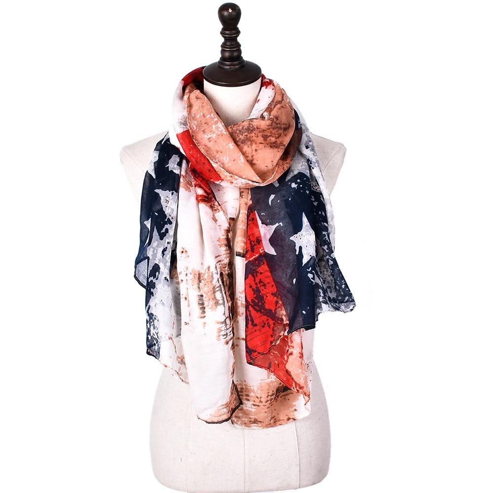 New Designer Drop Shipping Women Scarves Usa Flag West