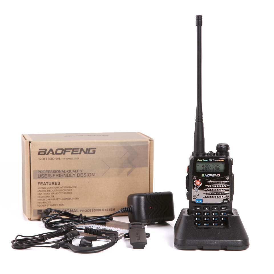 Baofeng UV-5RA Walkie Talkie UV5RA Divvirzienu šķiņķis CB Portatīvais radio Comunicador Amador VHF UHF Dual Band PTT PMR Walk Talk Pofung