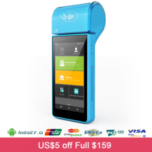 1 SIM Card Slot BT WIFI 4G Android 7 0 Tickets Printer With Barcode Scanner 1G