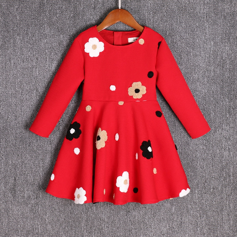 Brand fashion Family Matching outfits baby girls Clothes long sleeves flower dress family look Mother and Daughter party Dresses