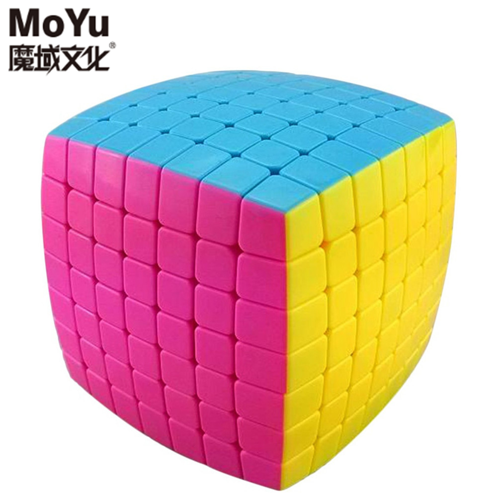 Brand Moyu Aofu 7x7x7 Twisty Pillowed Magic Cube Speed Puzzle Cubes Kids Toys Educational Toy moyu aoshi 69mm 6x6x6 stickerless speed magic cube puzzle cubes kids educational toys pink