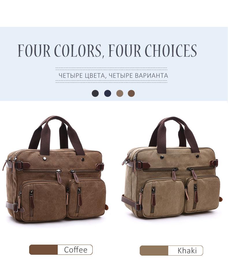 HTB1E2vZKf5TBuNjSspmq6yDRVXaV Scione Men Canvas Bag Leather Briefcase Travel Suitcase Messenger Shoulder Tote Back Handbag Large Casual Business Laptop Pocket