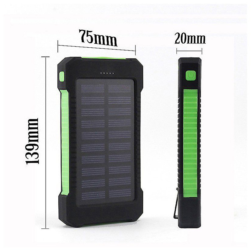 Mobile Phone Adapters No Battery Solar Led 50000mah Power Bank Charger Case Kit 14.9cm X 7.4cm X 1.8cm 1pcs Diy Waterproof Dual Usb