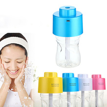Portable USB Bottle Cap Cover Air Humidifier With Bottle for Office Home Travel