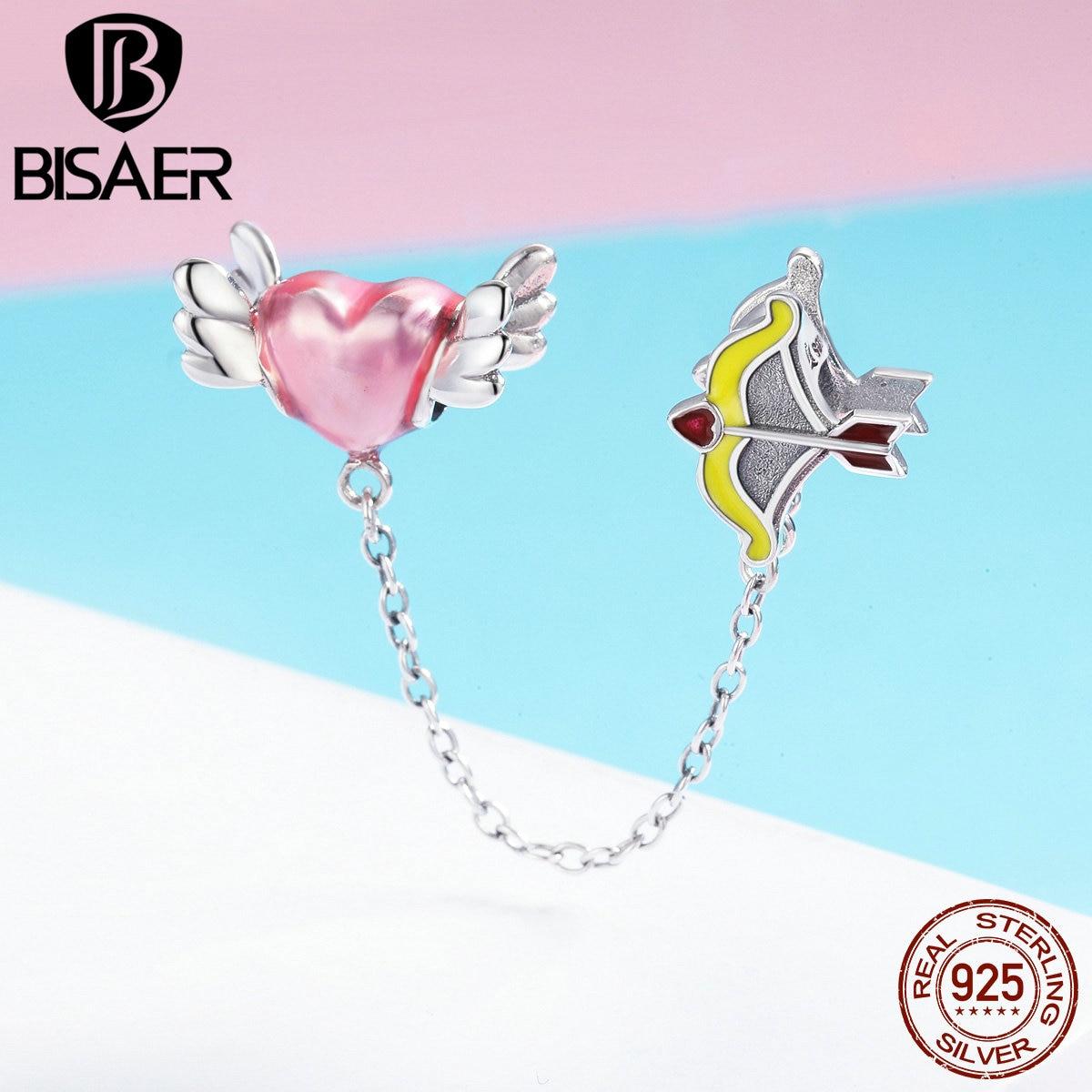 Nova marca real 925 prata esterlina anjo pena coração cupido seta encantos ajuste charme prata 925 pulseira grânulos & jóias fazendo