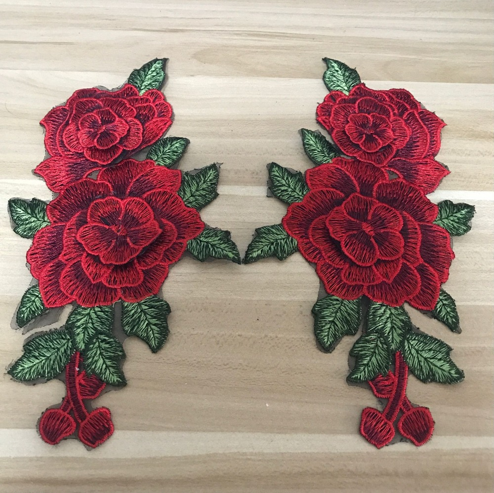 Aliexpress buy d flowers venise embroidered rose