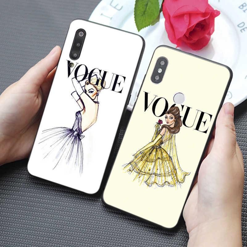 Mujer marca más problemas que Vogue funda de teléfono de silicona blanda dura para samsung galaxy a50 a70 a30 a40 a20 s8 s9 s10 plus