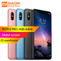 Global version Xiaomi Redmi Note 6 Pro 4GB 64GB 6.26 inch FHD+ Snapdragon 636 Octa core 12MP+5MP Dual camera 4G Smartphone