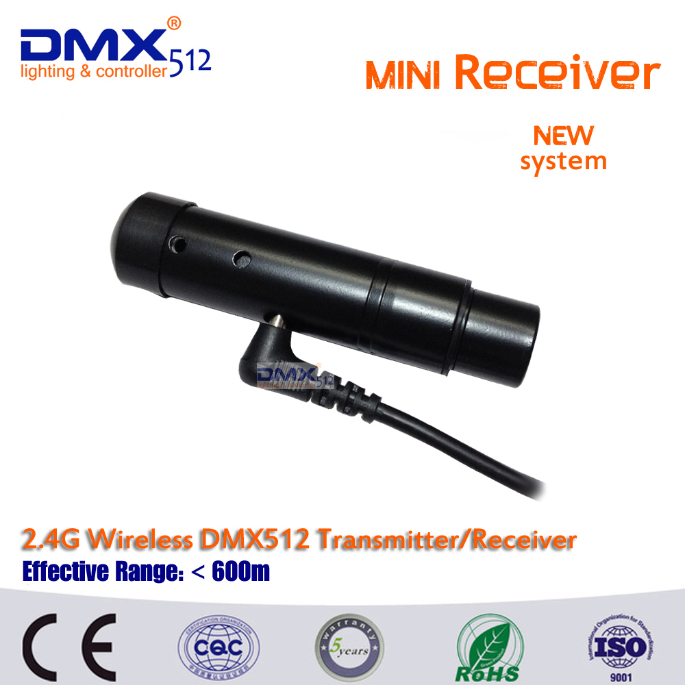 Free shipping New system 1 pc black MINI  Wireless DMX512 Receiver, signal stability led dmx controller disco lights dmx wl v911 black remoter controller motor battery upgrades accessories for wl v911 parts free shipping