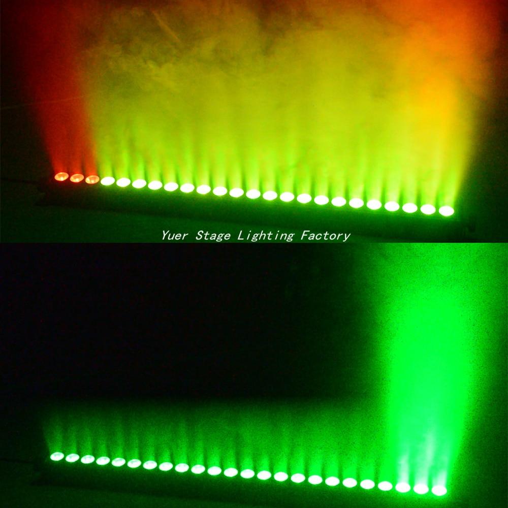4Pcs/Lot 24x4W LED RGBW 4in1 Led Wall Wash Light 3/6/24/28 Channels DMX512 Led Bar Wash Stage Light Music DJ Disco Party Wedding