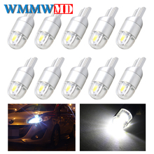 10pcs Signal Lamp 3030 T10 Led Car Bulb W5W 194 168 Led T10 Led Lamps For Cars White 5W5 Clearance Backup Reverse Light 12V
