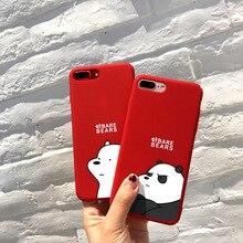 Милый мультфильм милая пара медведь телефон чехол для iPhone 6 6s plus 7 7Plus 8 8Plus X XR XSMAX жесткий матовое покрытие Touch Cover Siedery