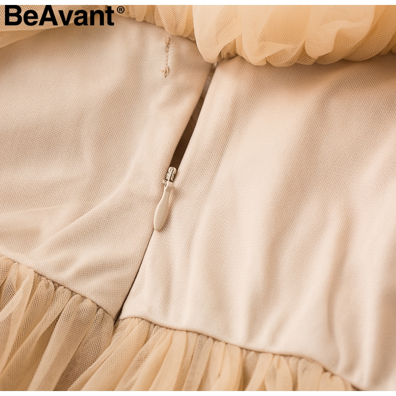 BeAvant Off shoulder womens tops and blouses summer 19 Backless sexy peplum top female Vintage ruffle mesh blouse shirt blusas 14