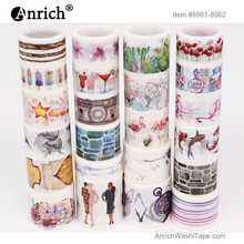 Free Shipping and Coupon washi tape,Washi tape,watercolor,Optional collocation,on sale,#8861-8962