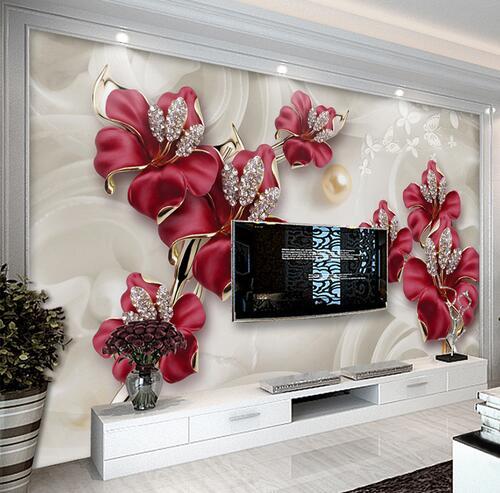 custom mural wallpaper for bedroom walls 3d beautiful flower rh aliexpress com