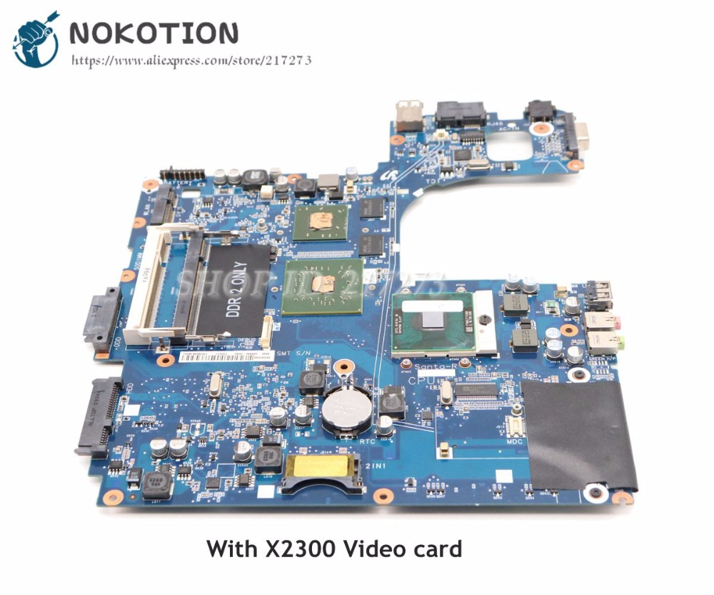 NOKOTION For Samsung R60 NP-R60 Laptop Motherboard X2300 Graphics Free CPU BA92-04849A BA92-04849B BA92-04850A BA92-04850B free shipping laptop motherboard for np300e5a ba92 09190a ba92 09190b