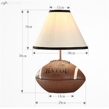 LFH Creative Children Boy Table Lamp Bedroom Living Room Football Table Lights Lovely Bedside Desk Lamp Creative Birthday Gift(China)