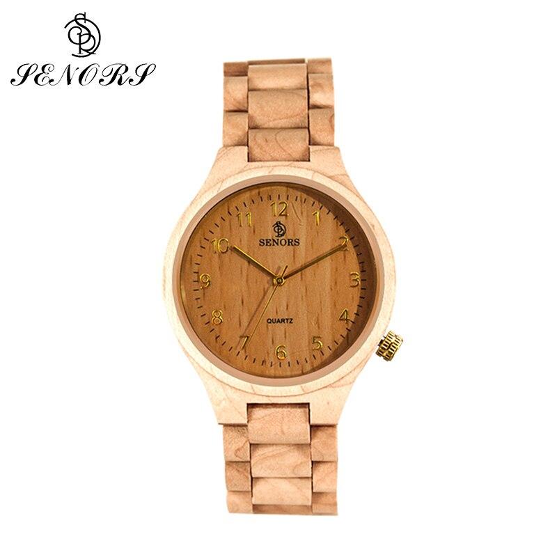 SEONRS montre en bois pour hommes femmes montres à Quartz de luxe marque bambou bois montres pour homme relogio masculino