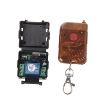 1 PC DC 12V 10A Relay 1CH Wireless RF Remote Control Switch Transmitter + Receiver 315MHz/433MHz
