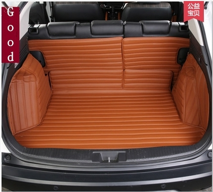 full surrounded covered no odor anti skip dedicated car trunk mats for Vezel durable waterproof leather luggage mats