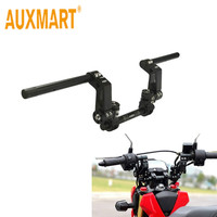 Auxmart Black 22mm Motorcycle Handlebar Adjustable Steering Handlebars Kit Universal For Yamaha Scooter 125cc Dirt Bike Racing