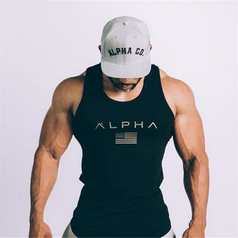 2018 Men Summer Gyms Fitness Bodybuilding Hooded Tank Top Fashion Mens Clothing Tight Breathable Sleeveless Shirts Vest