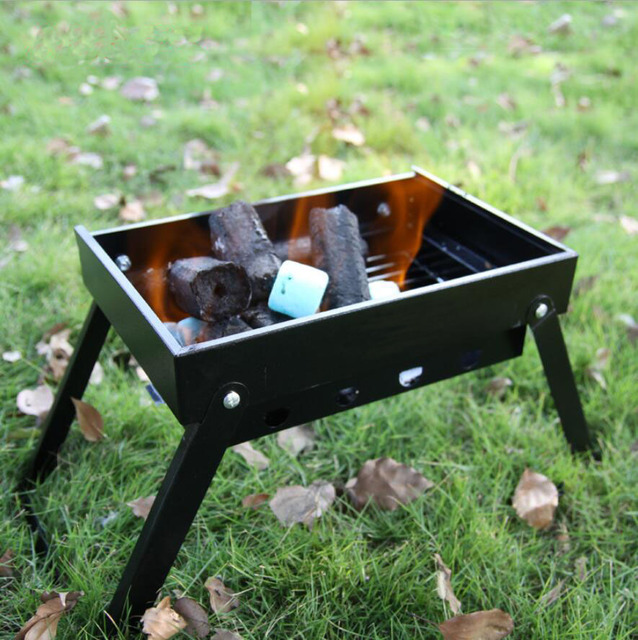 webetop outdoor household couple barbecue brazier charcoal portable mini bbq grill camping bbq. Black Bedroom Furniture Sets. Home Design Ideas