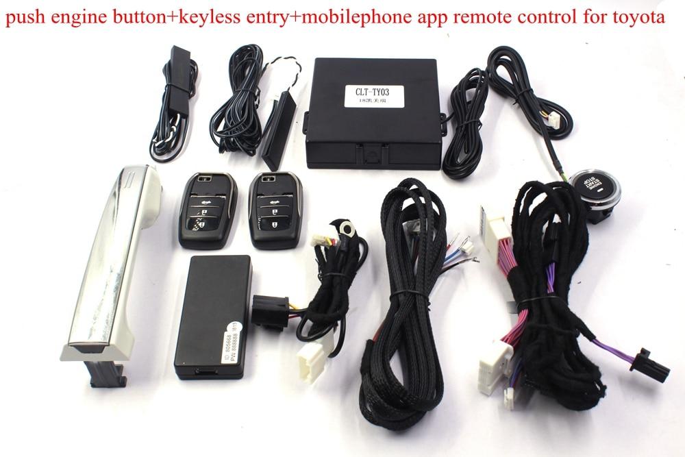 Alarme de voiture GSM démarrage à distance téléphone App accès avec verrouillage Central à distance entrée sans clé bouton poussoir démarrage du moteur pour Toyota Camry