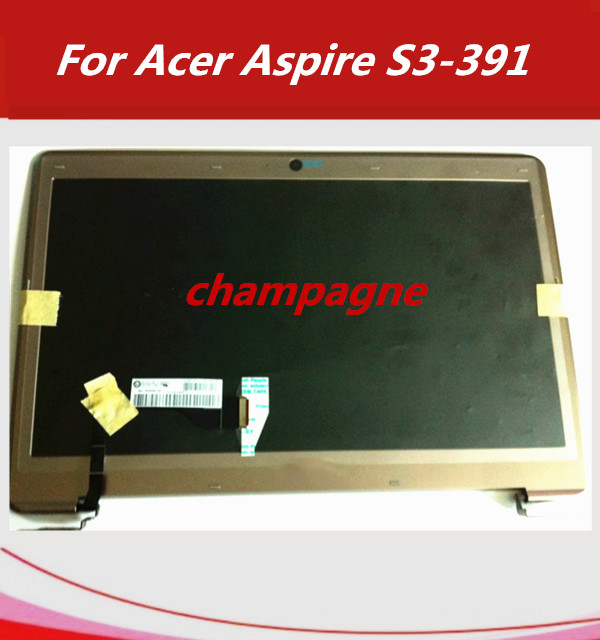 Laptop lcd assembly For Acer Aspire S3 S3-391 S3-951 MS2346 Zenbook matrix LCD Screen Display B133XTF01.1 B133XW03 V3