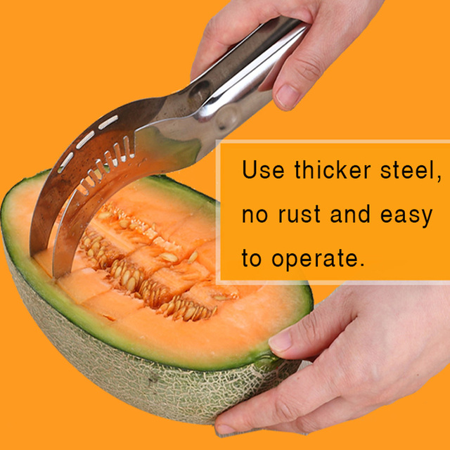 HIKUUI Kitchen Melon Cutter Tools Watermelon Scoop Corer Server Slicer Fruit Melon Knife Quality 410 Stainless Steel