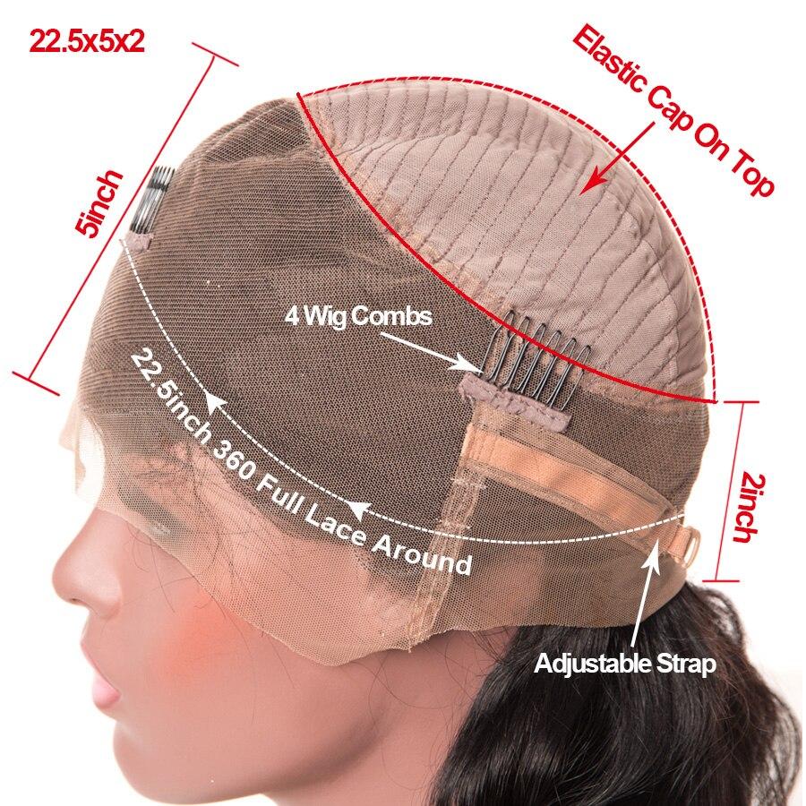 360 Spets Frontpärra Pre Plockad Med Barnhår RUIYU Brasiliana Paryk - Mänskligt hår (svart) - Foto 6