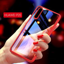 Samtsui Ultra-thin Transparent TPU Two-in-One Anti-Fall Case For Huawei P20 P20Pro Lite Back Cover Coque