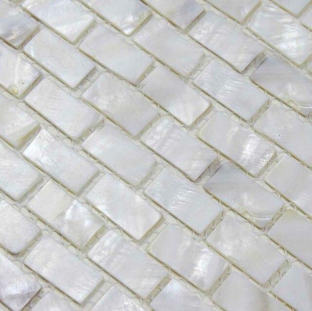 Shell Tile Sheets Subway Fresh Water Mother Of Pearl Mosaic Natural Seashell Tiles Mirrored Wall Kitchen
