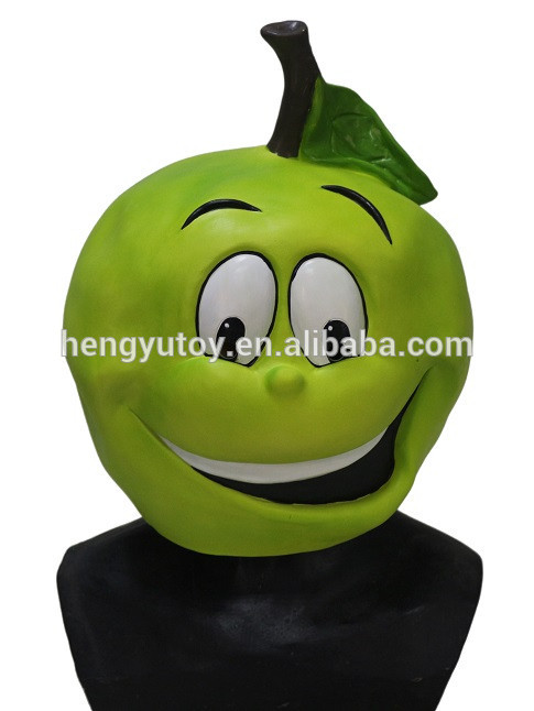 2018 Top Selling Lively Funny Fruit Green Apple Cartoon