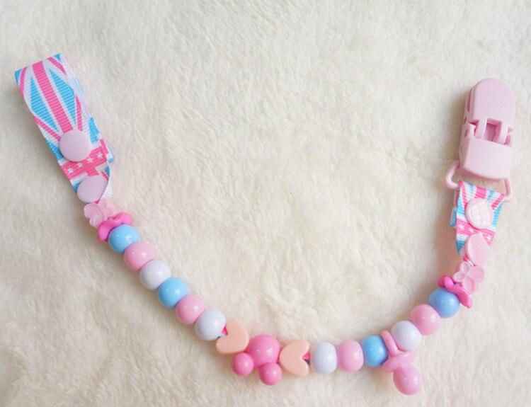 MIYOCAR säker många färger pärlor handgjorda pacifier klipp / - Äta och dricka - Foto 4