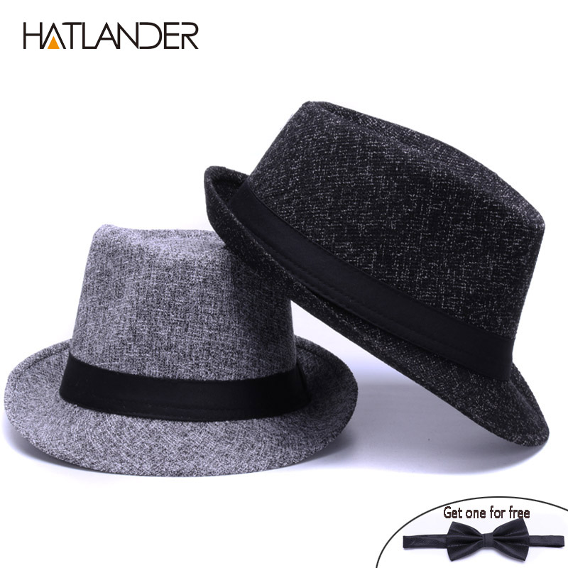 a52dfd815f095 Fashion Linen fedora hats for men women Jazz cap casual sun top hat ...