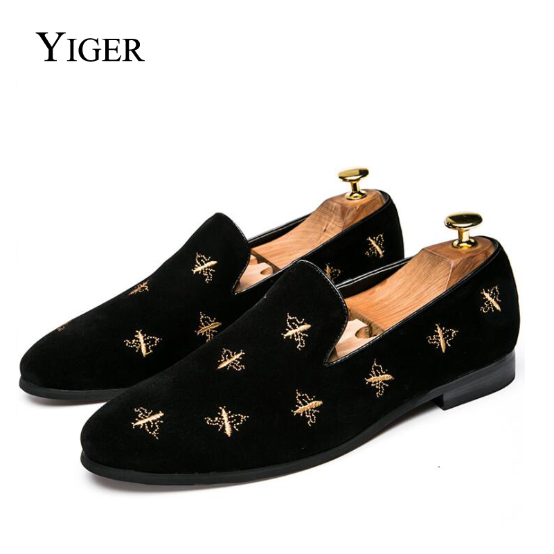 YIGER  New Men Loafers Korean version Casual Man shoes 2018 Slip-on Dress Black Spring/Autumn Leisure 0115