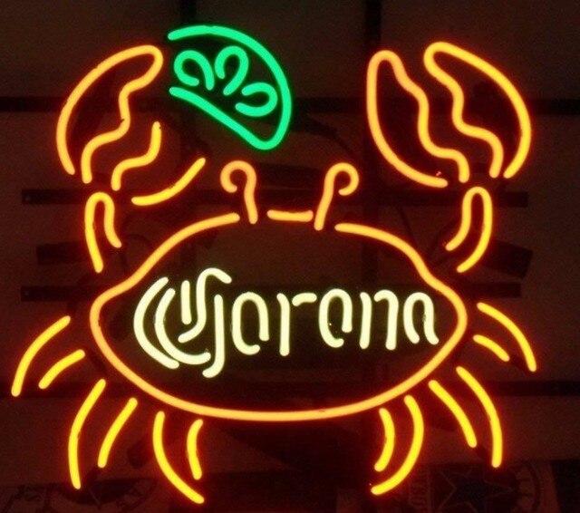 Custom Corona Crab Lime Glass Neon Light Sign Beer Bar